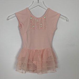 Danskin Pink Leotard sz 6 / 6X Little Girls